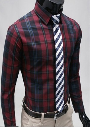 Checked Shirt Style Social English - Red / Black