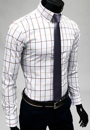 Checked Shirt Style Social English - White