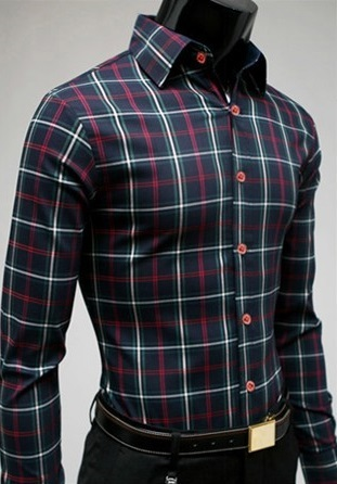 Checked Shirt Style Social English - Blue / Red