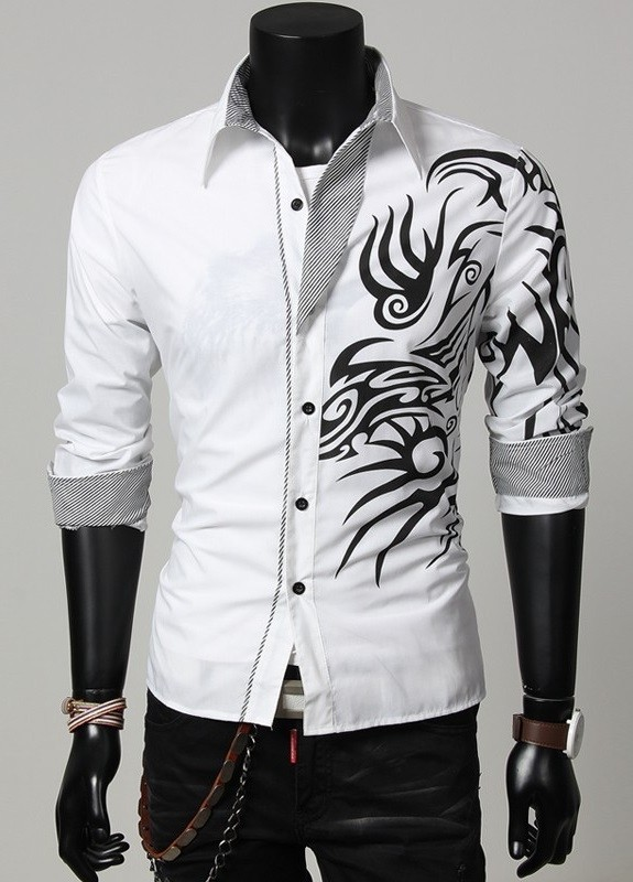 White Shirt With Black Design | Is Shirt