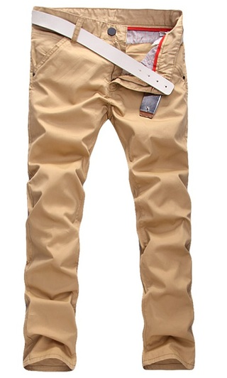 Modern Casual Pants Straight - in Cotton - Khaki