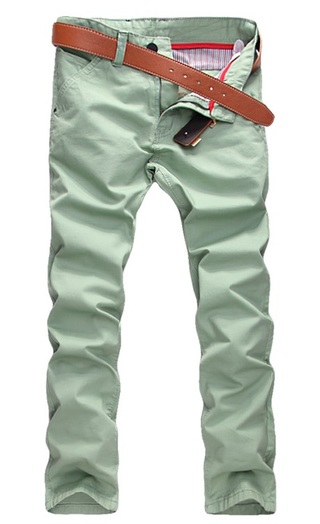 Modern Casual Pants Straight - in Cotton - Ligth Green