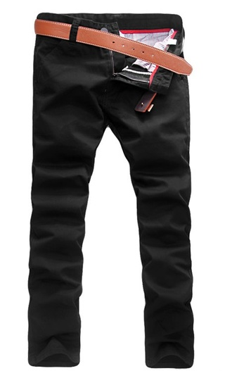 Modern Casual Pants Straight - in Cotton - Black