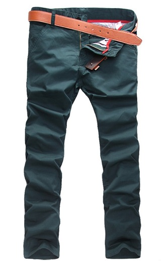 Modern Casual Pants Straight - in Cotton - Green