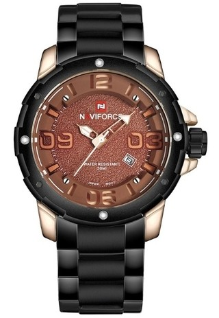 Fashion Watch NAVIFORCE 9078 Military Style - Black - in 4 Colors