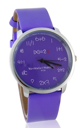 Reloj Unisex Womage - Mathematics - Prupura
