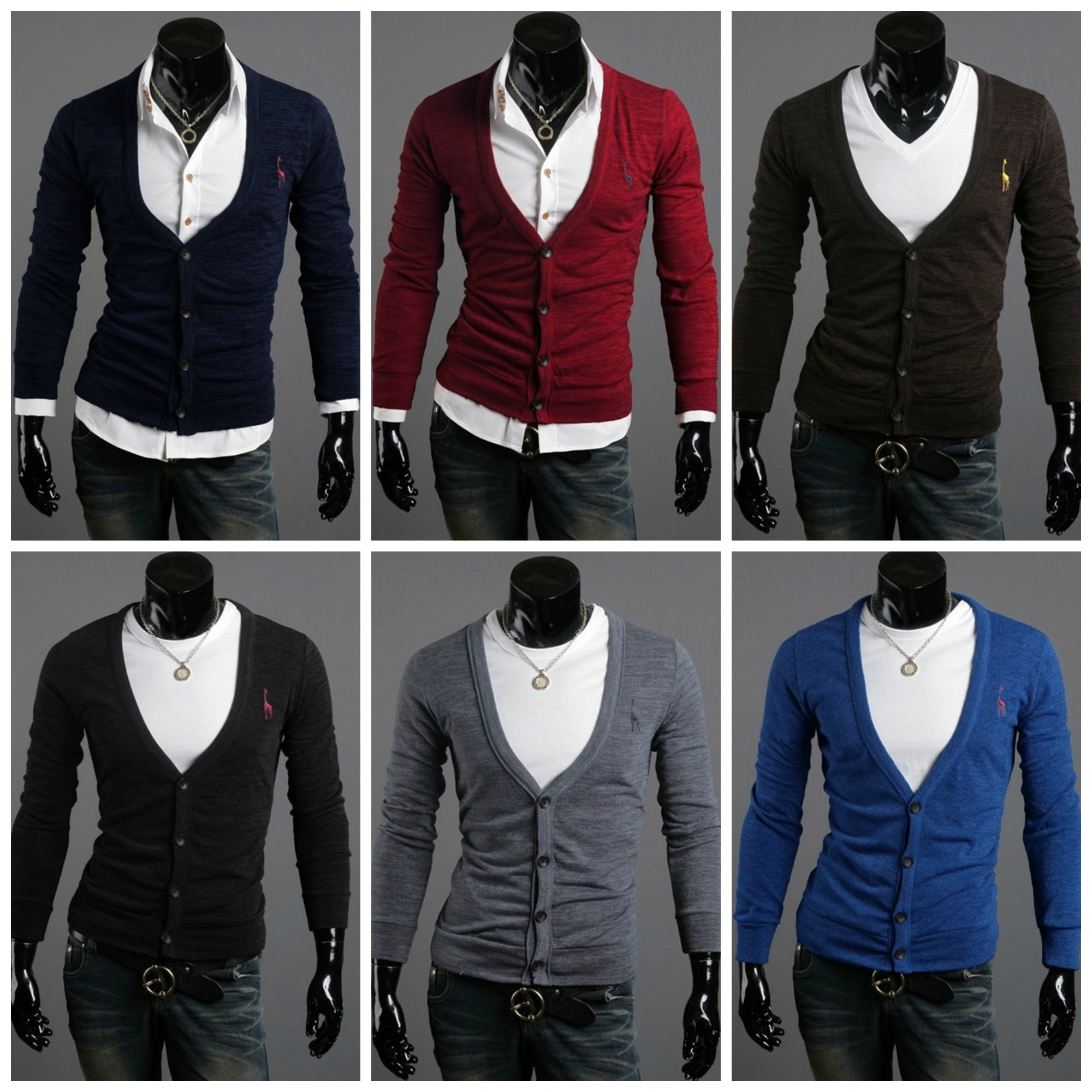 Cardigan Fashion con Cuello en V Profundo