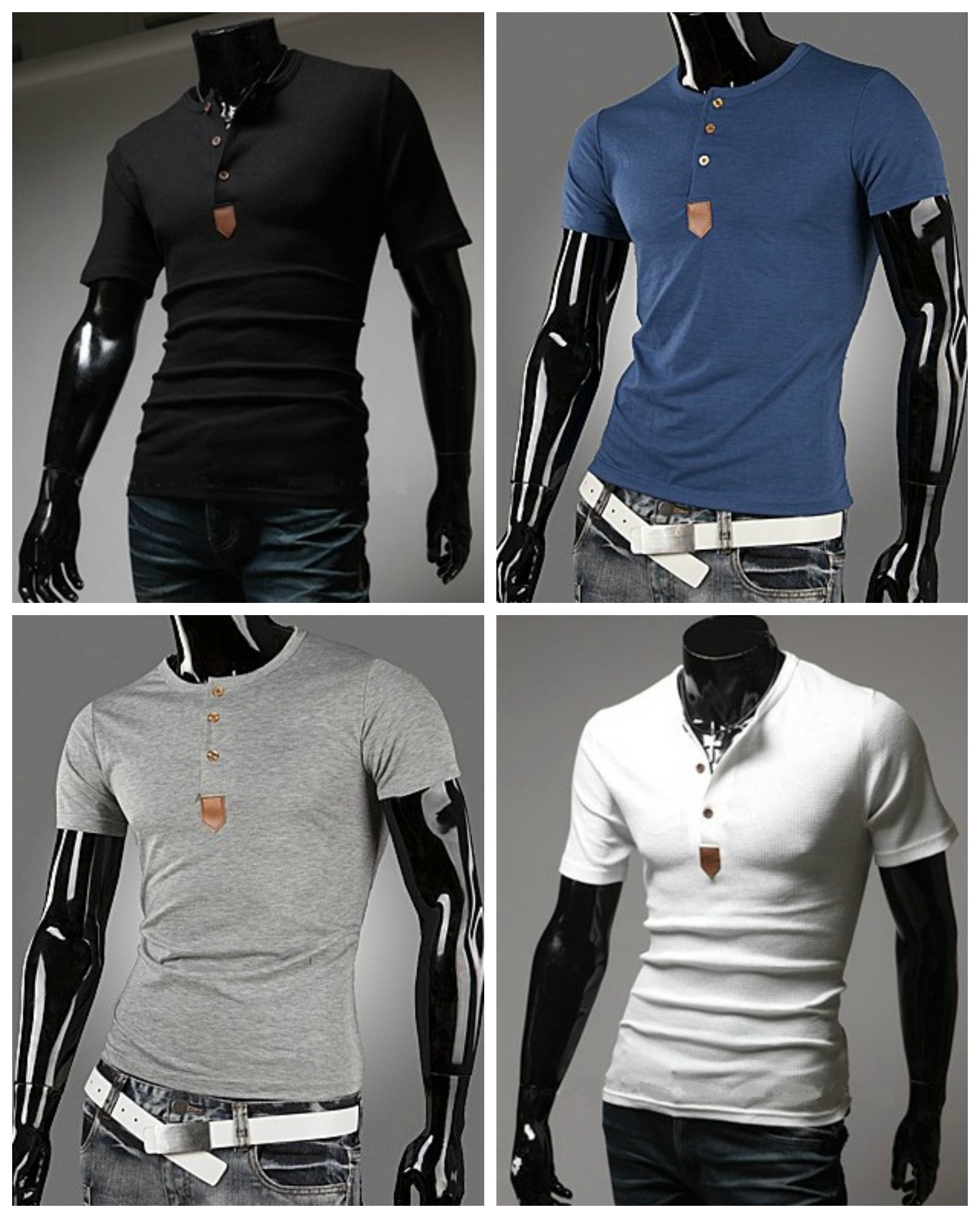 Camiseta Casual Fashion con Botones