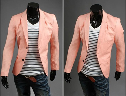 Blazer Casual Fashion Corte Ingles - Salmon