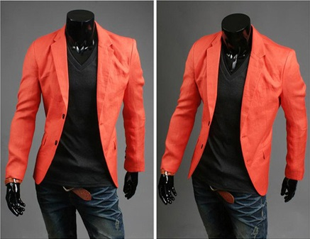 Blazer Casual Fashion Corte Ingles - Naranja
