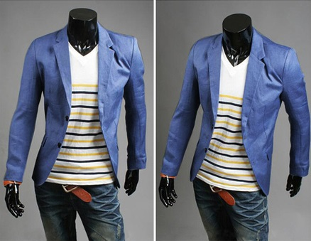 Blazer Casual Fashion Corte Ingles - Azul
