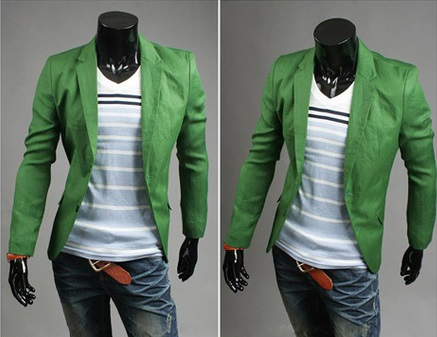 Blazer Casual Fashion Corte Ingles - Verde