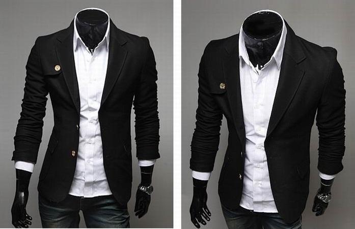Blazer Casual Fashion - Detalle en el Pecho - Negro