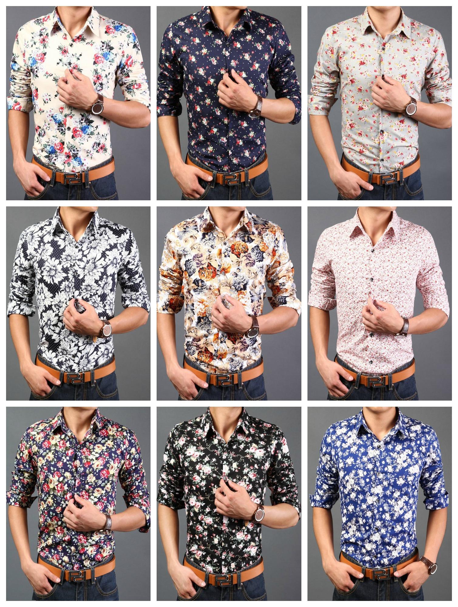 Camisa Moderna Slim Fit Primaveral