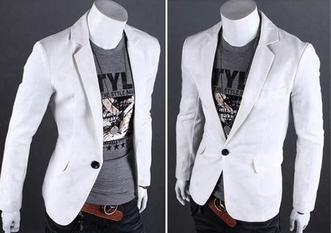 Blazer Fashion Moderno de un Boton - Ideal para la Noche - Blanco