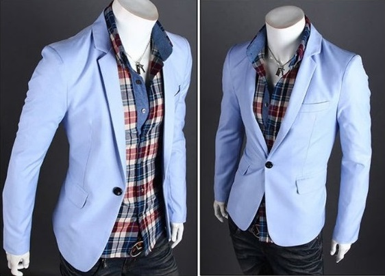 Blazer Fashion Moderno de un Boton - Ideal para la Noche - Azul