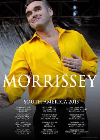 Morrissey - South America Tour 2015 [Poster]