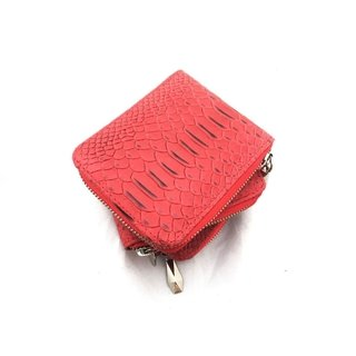 MINI BILLETERA CROCO ROJO
