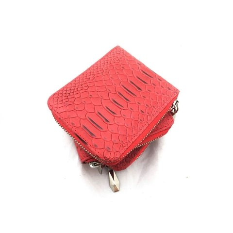 MINI BILLETERA CROCO ROJO - comprar online