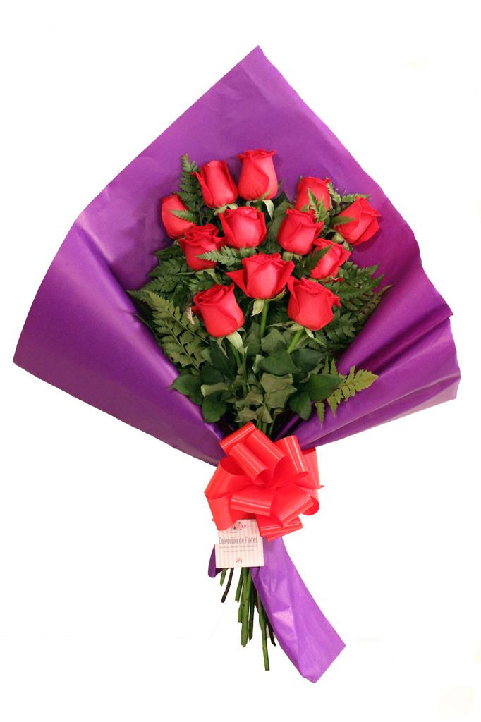 Ramo 12 rosas premium comprar en colecci n de flores - Como hacer ramos de flores ...