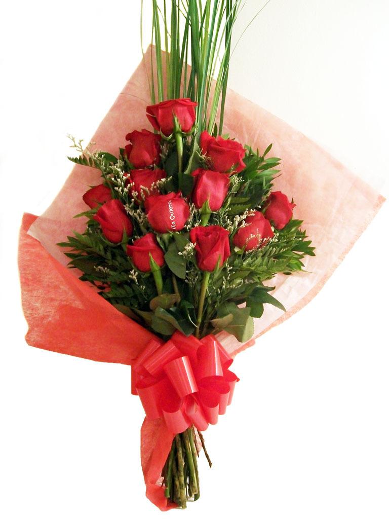 Ramo 12 Rosas Importadas , 1 Impresa