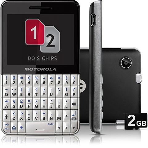Motorola Ex119 Nacional Branco e Preto Touch Wifi Dual Chip Qwerty Mp3