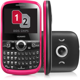 Huawei G6620 Preto e Rosa Dual Chip Qwerty Cam 1.3MP MP3 Bluetooth