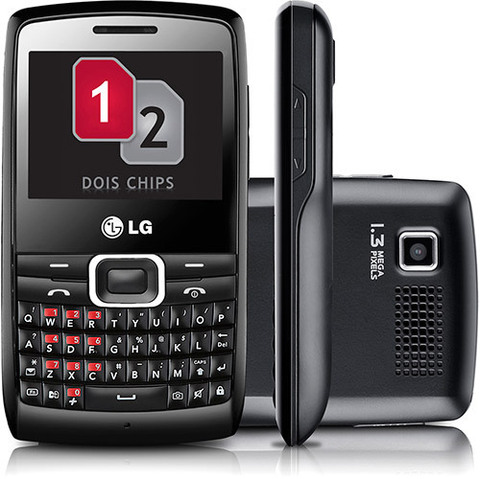 LG X335 Dual Chip Qwerty Cam 1.3MP Radio FM MP3 Bluetooth Anatel I Vitrine