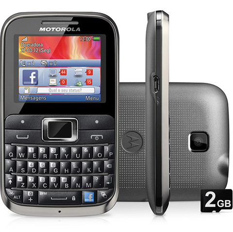 Motorola Ex116 Preto Wifi Qwerty Cam 2mp Mp3 Fm Bluetooth Nf