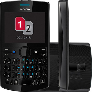 Nokia Asha 205 Dual Chip Preto Qwerty Mp3 Facebook|Vitrine