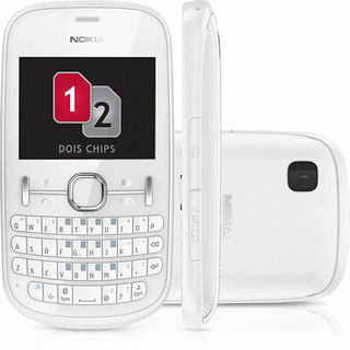 Nokia Asha 200 Branco Dual Chip Nacional Câm 2mp Qwerty