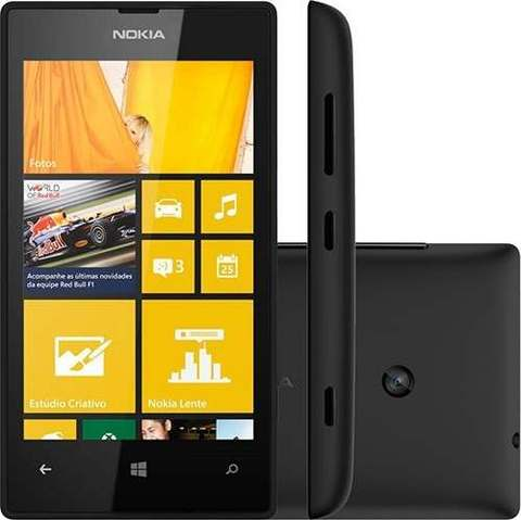 Nokia Lumia 520 Preto 8gb Wifi 5mp Gps Windows 8.1|VITRINE