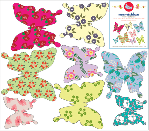 mariposas estampadas