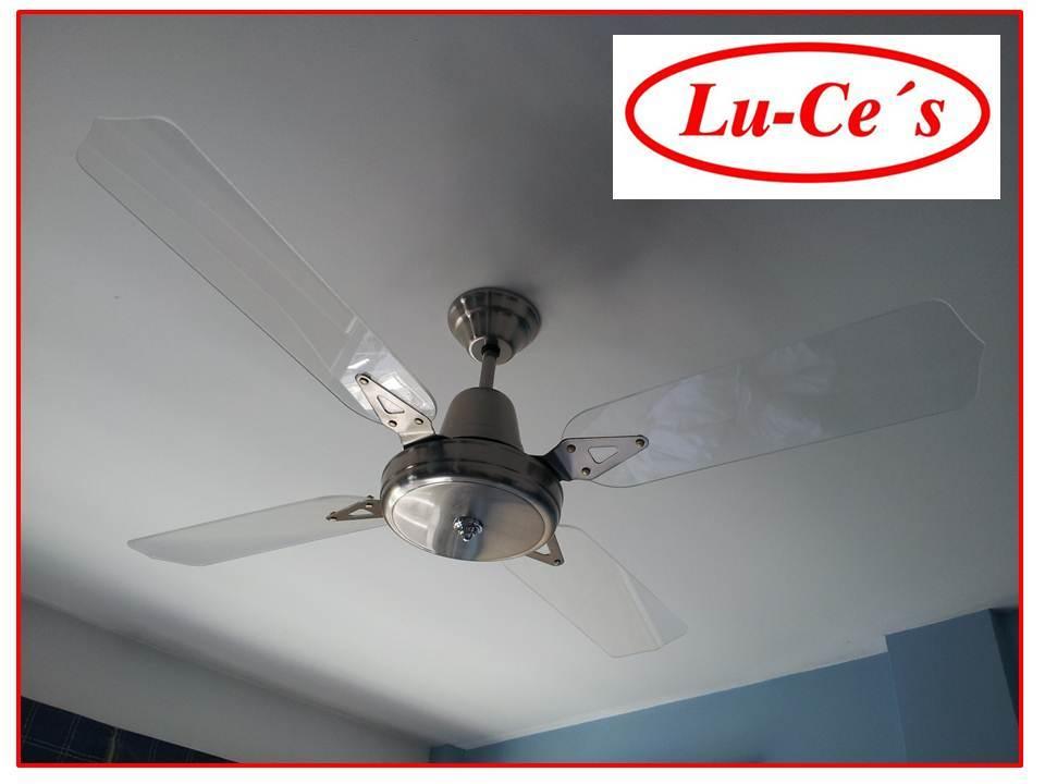 Ventilador de techo platil o dorado palas acrilico 10 a os - Ventilador techo silencioso ...