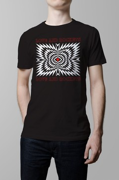 Remera Love and Rockets negro hombre
