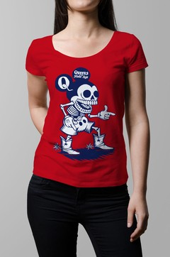 Remera Queens of the stone age roja mujer