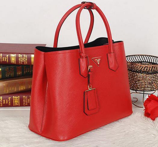 Bolsa De Couro Legitimo Vermelha : Bolsa saffiano double tote vermelha couro leg?timo premium
