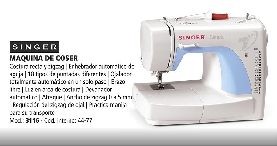 Singer 3116 - Comprar en Casa Ruere SAICF — Casa Ruere SAICF