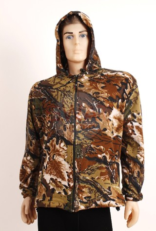 Campera Micro Polar Camuflada - Forest Leather