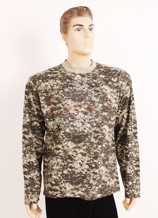 Remera Manga Larga Pixelada - Forest Leather