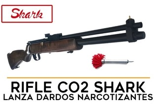 Rifle Co2 Shark Narcotizante - 13 mm
