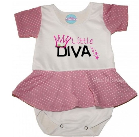 Body com Saia - Little Diva. Pronta Entrega