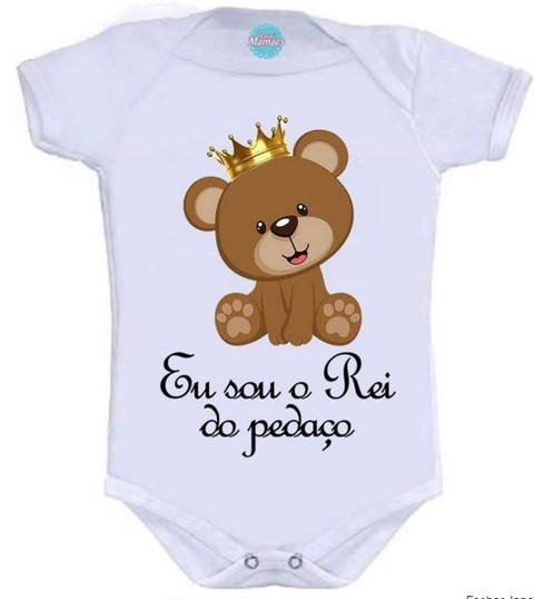 Body Infantil-O Rei Do Pedaço.  Pronta Entrega