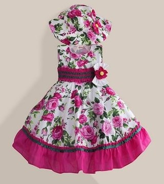 Vestido Infantil Floral New Fashion.Pronta Entrega