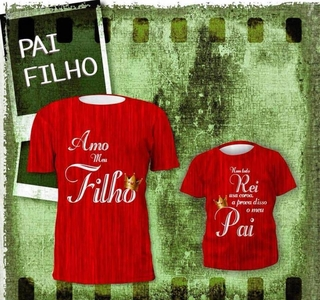 Kit Camisetas Papai Rei-   Pronta Entrega