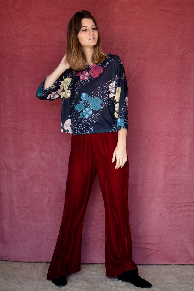 Pantalon Felpa Bordeaux en internet