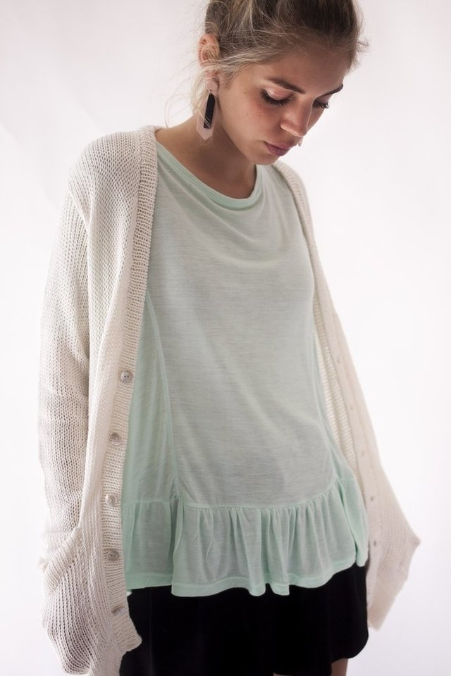Cardigan Mar natural - Petitem