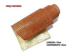 MANTA DE STRASS LIGHT SIAM  / DOURADA 10x45cm - 2100002034602