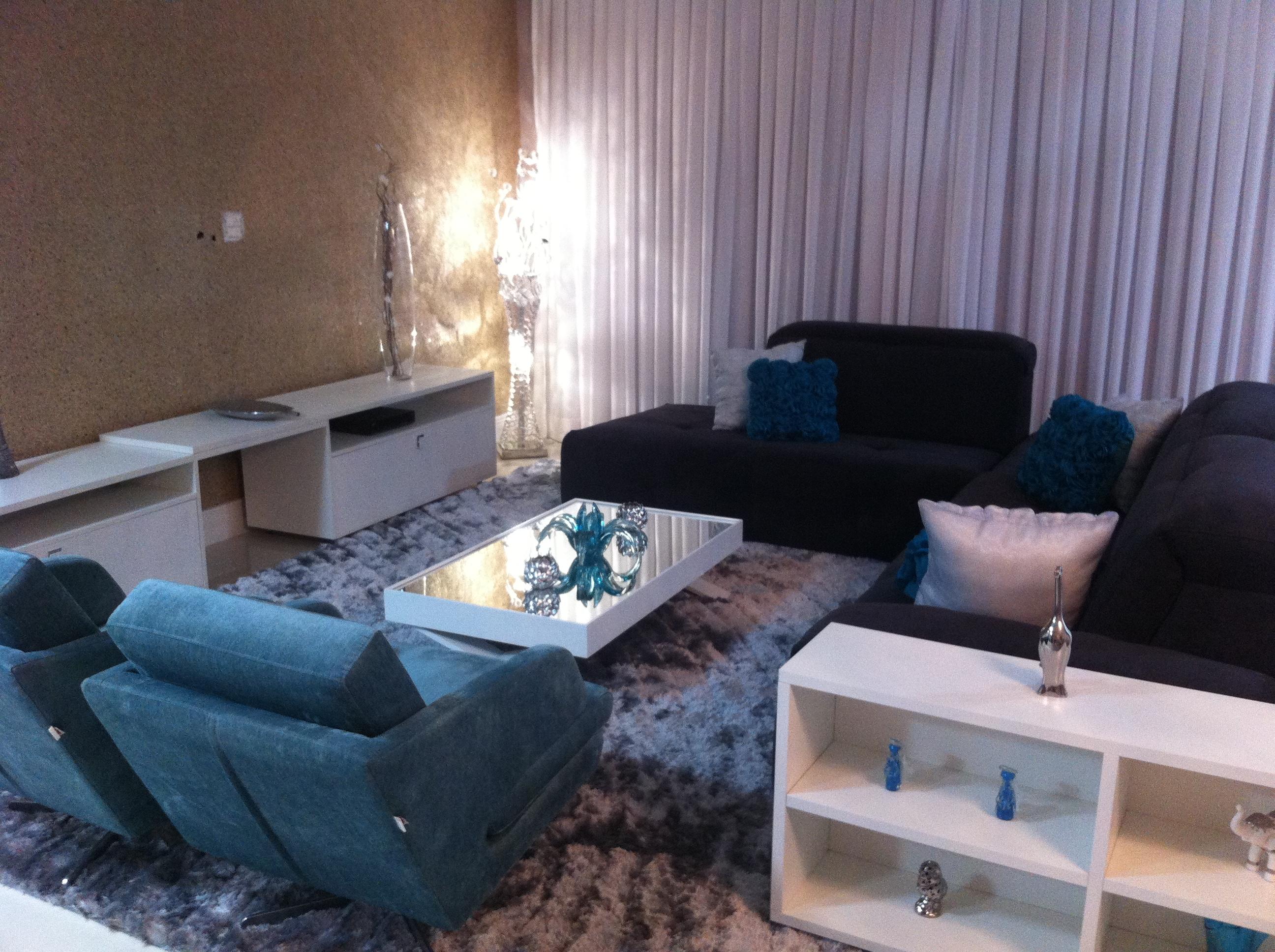 Pruzak Com Sala De Estar Con Sofa Azul Marinho Id Ias  -> Decoracao De Sala Azul Marinho