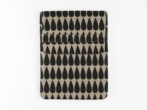 tablet case - black drops